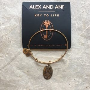 Alex and Ani Key to Life Gold Charm Bracelet